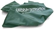 Tričko s bielym flockom Eardrum Descruction