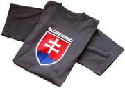 Tričko Slovensko, grafický motív, solo farby