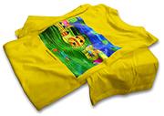 Tričko Nadácie Pontis. Plnofarebná (CMYK) rastrová priama tlač