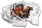 Tričko Indián. Plnofarebná priama tlač