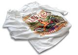 Plnofarebná priama tlač na biele tričko
