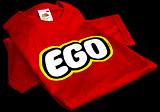 Tričko EGO, sieťotlač, grafický motív, solo farby