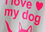 Tričko I love my dog, flex - gumový nažehlovací materiál