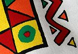 Detail, grafická farebná sieťotlač na tričko