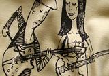 Hudobné tričko s potlačou Longital, jednofarebná sieťotlač
