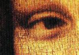 Tričko s potlačou Mona Lisa, detail, digitálna tlač