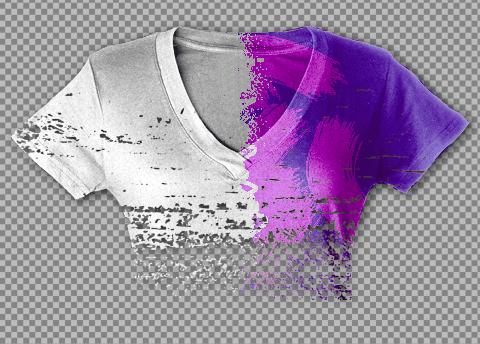 Ilustrácia: Návrh šablóny textilu pre návr potlače