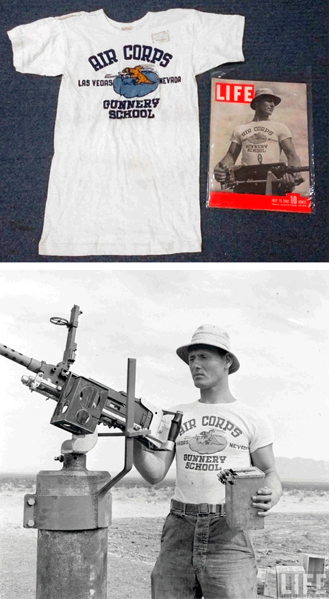 Legendárne tričko s dizajnom Air Corps Gunnery School