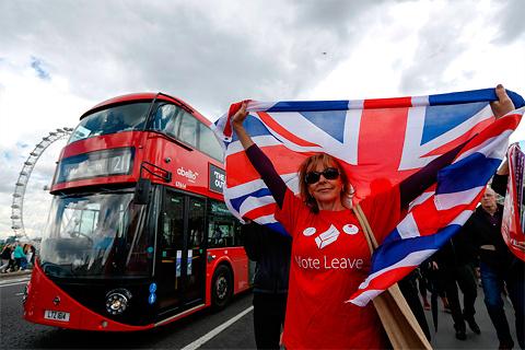 Potlač na tričku Vote Leave