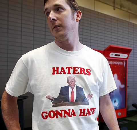 tričko s potlačou HATERS GONNA HATE