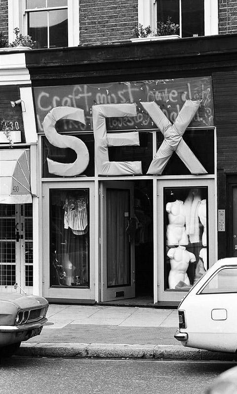 Malcolm McLaren pred obchodom SEX, fotografia z roku 1971