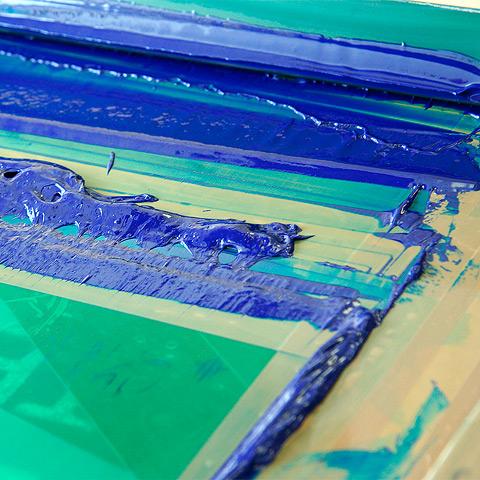 Sito - farba na sieťotlačovej šablóne