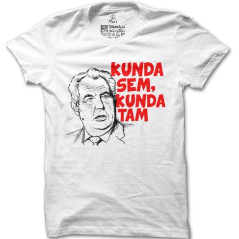 Tričko s nápisom Kunda sem kunda tam